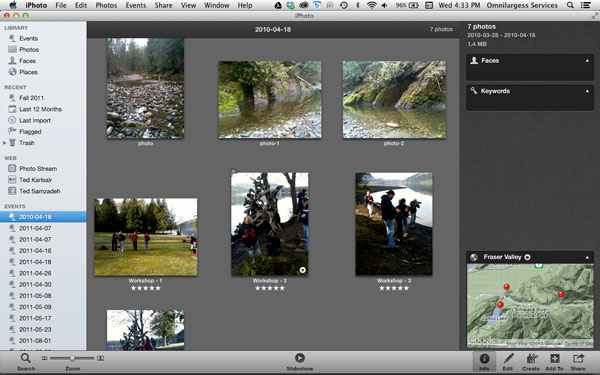 Geotag your photos in iPhoto is simple
