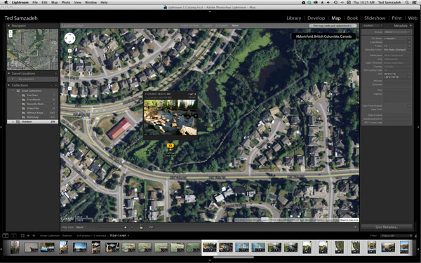 Drag selected images to Lightroom Map