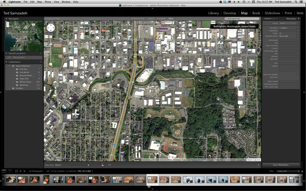 In Lightroom Map search box type the general address