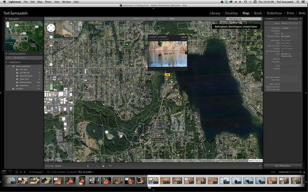 Zoom in Lightroom Map to find the exact location