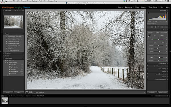 Global (general) adjustment in Lightroom