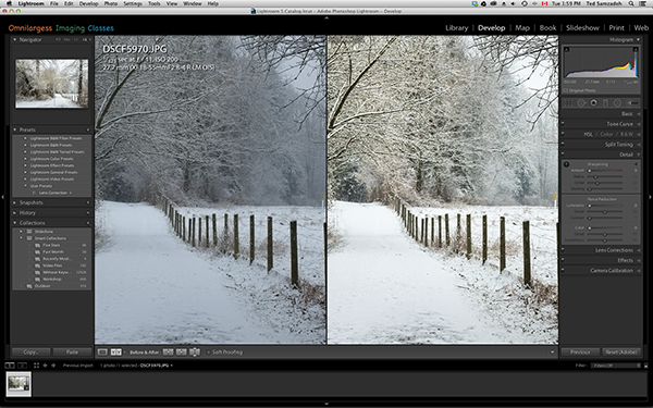 Before and After in Lightroom