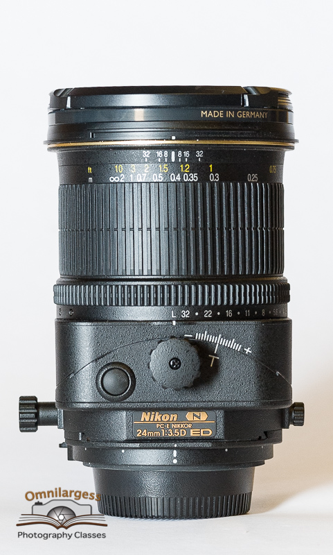 Nikon 24mm Tilt/Shift lens is available for rent