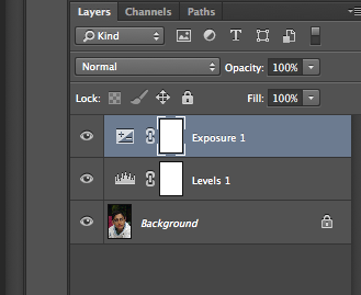 Layers adjustments in Photoshop format