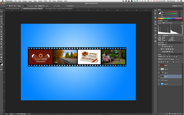 Create a Film Strip in Photoshop is easy and fun