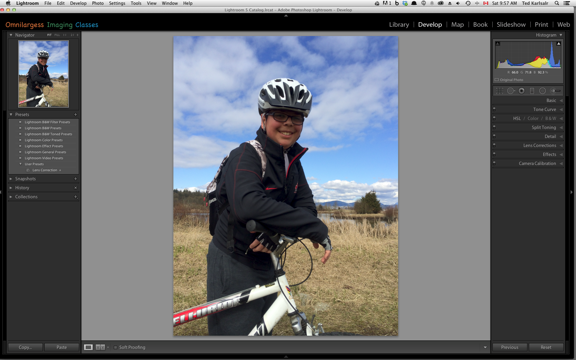 Adjusting in Lightroom by using Radial Filter