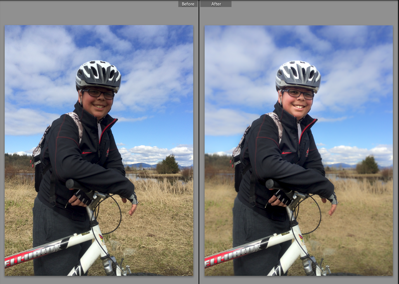 Using Lightroom Radial Filter Before and After