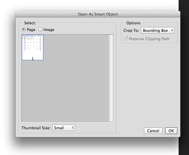 Photoshop converted the PDF file to use in new canvas