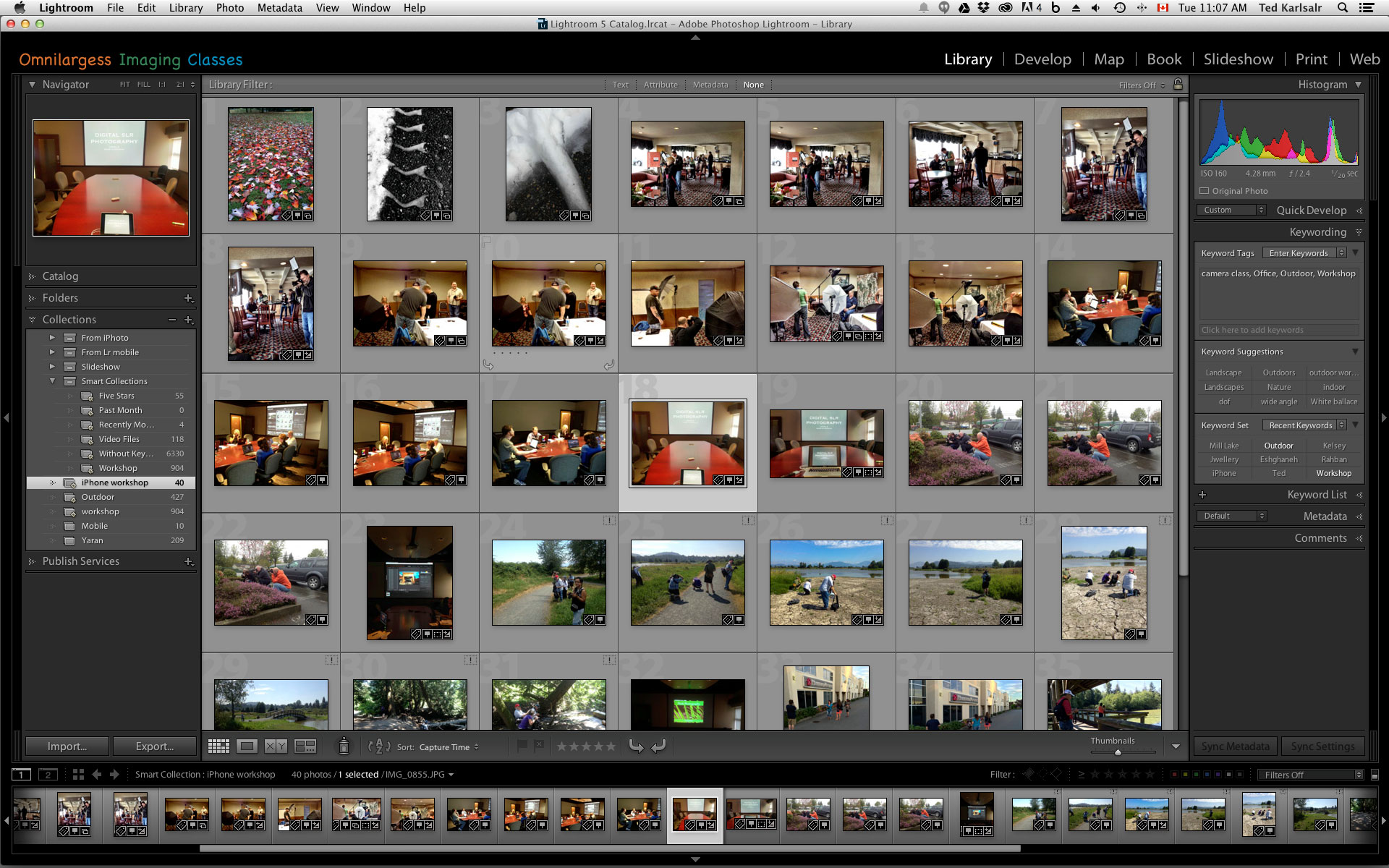 Lightroom Smart Collections are dynamic.