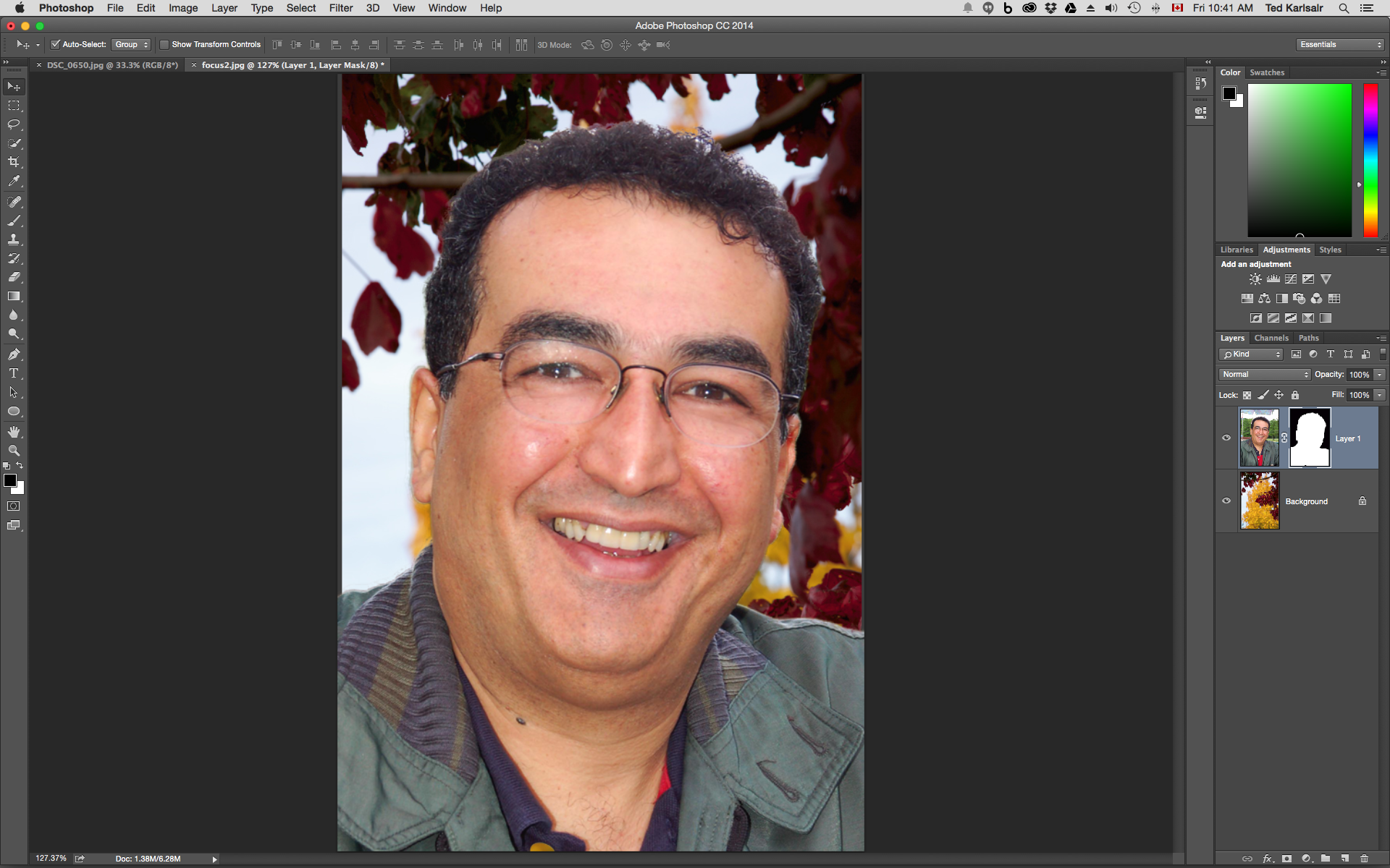 Layers and Masks in Photoshop help us editing photos nondestructively