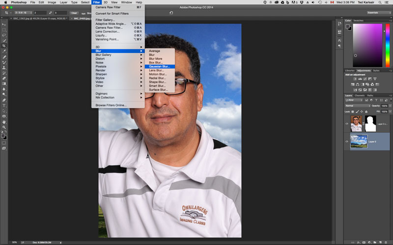 In Photoshop Layers you can use filters for each layer individually