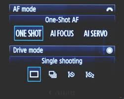 Canon Auto focus modes
