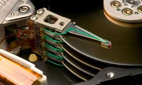 There are lots of moving parts inside a computer hard drive
