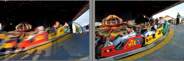 Fast and Slow shutter speed comparison