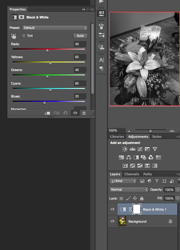 Photoshop Colour Accent