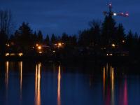 Mill Lake at night. Photo by Teresa Thomas from April Bootcamp workshop