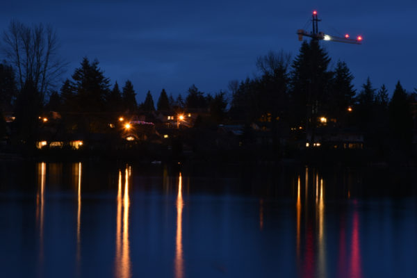 Mill Lake at night. Photo by Teresa Thomas from April Bootcamp workshop