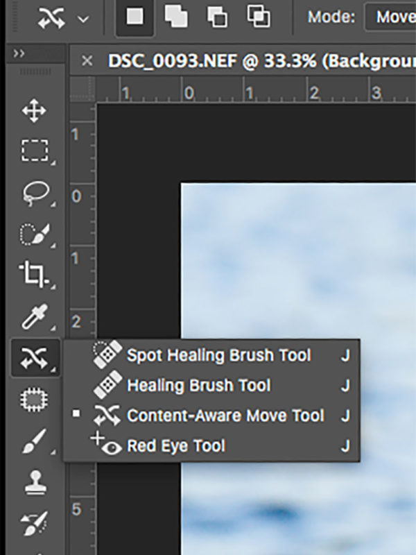 Photoshop Content Aware move tool