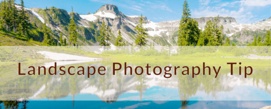 A Simple Rule in Landscape Photography