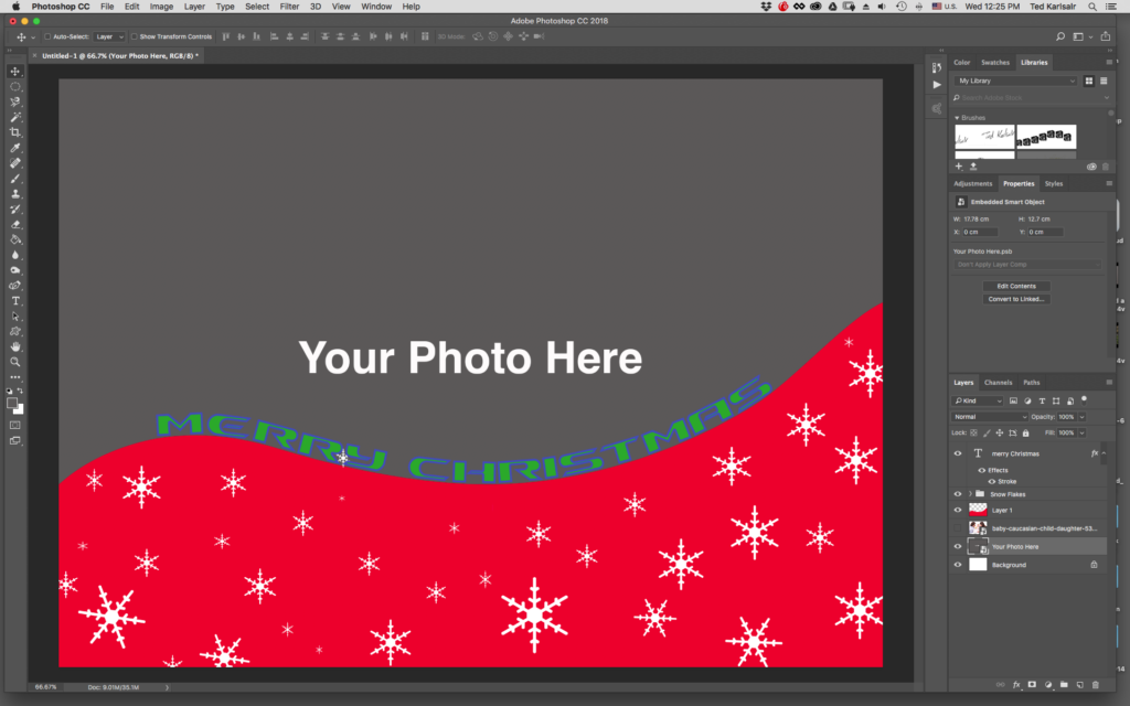 Designing Christmas Cards Using Photoshop