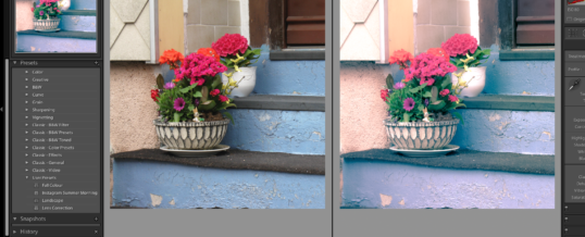 Create Lightroom Presets
