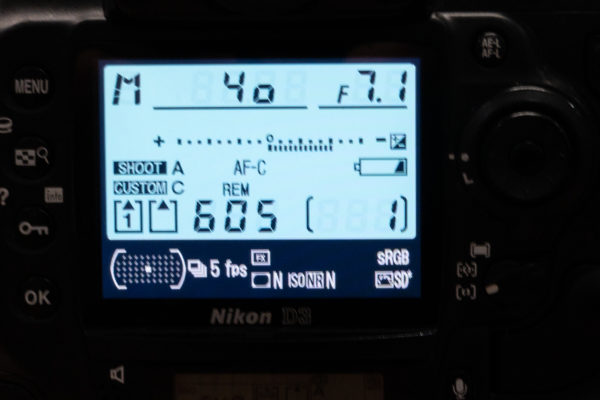 Negative value in Light meter means that the photo is underexposed.