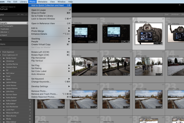 Quick Collection is a life saver for busy photographers