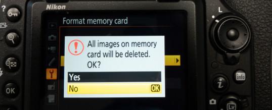 Formatting Memory Card