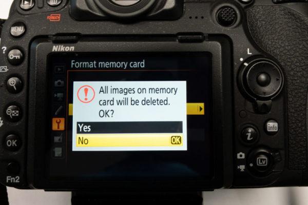 Delet or Format