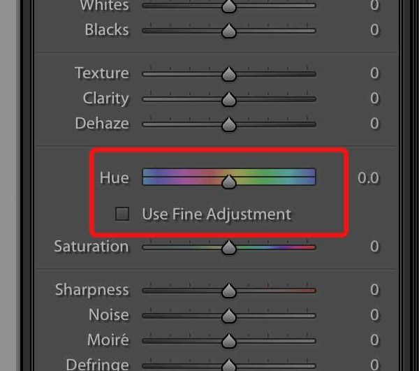 Hue Slider allows you to set different Hue to the selected areas