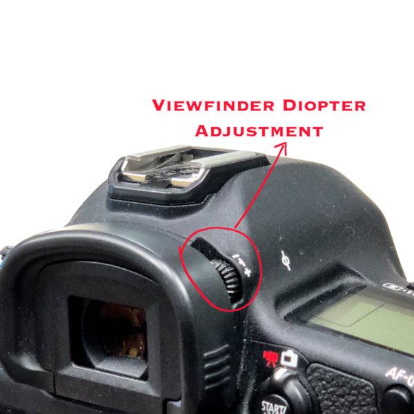 Viewfinder Diopter Adjustment Knob