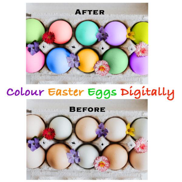 colour easter eggs digitally
